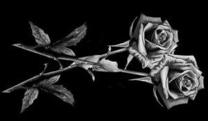 Цветы на памятник — особенности гравировки цветов на гранит