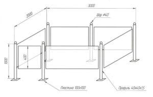 Как сделать оградку на кладбище из профильной трубы своими руками?